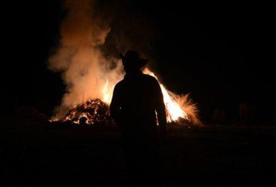 Los fuegos de La Paz