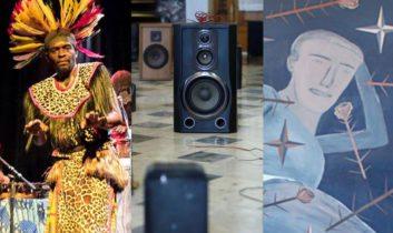 Percusión y danza africana en Colonia, 3ra Bienal de Montevideo y Nosotros y el cine en Espacio de Arte Contemporáneo